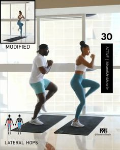 Fitness Workouts, Full Body Hiit Workout, Hitt Workout, Cardio Workout At Home, Gym Workout Videos, Gym Workout For Beginners, Fitness Workout For Women, Fat Burning Workout, Easy Workouts