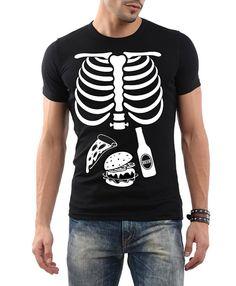 Halloween Skeleton Shirt, Halloween Costume Tshirt, Skeleton halloween maternity men t-shirt pizza, burger and beer matching tshirt