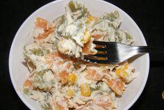Salată de paste cu carne de pui şi maioneză Paste, Grains, Rice, Food, Meal, Eten, Meals, Jim Rice, Korn