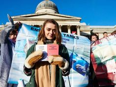 Game of Thrones actress Maisie Williams joins march to protest against 'disgusting' Japanese dolphin cull  http://www.independent.co.uk/environment/nature/game-of-thrones-actress-maisie-williams-joins-march-to-protest-against-disgusting-japanese-dolphin-cull-9985726.html