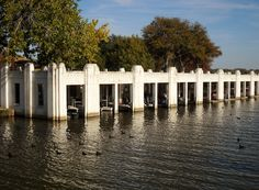 Cool Art Deco Boathouse from the 30's...White Rock Lake, Dallas, Texas: The Boathouse at White Rock Lake
