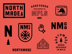 Northmade Co. No. 2 logo design badge typography