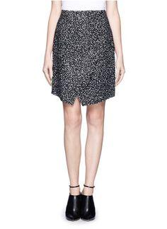 PROENZA SCHOULER - Asymmetric tiered printed skirt | Multi-colour Knee-length Skirts | Womenswear | Lane Crawford - Shop Designer Brands Online