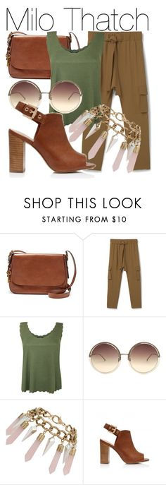 """Milo Thatch"" by fabulousgurl ❤ liked on Polyvore featuring FOSSIL, MANGO, Pilot, Linda Farrow, Miss Selfridge, Forever New, disneybound and atlantis"