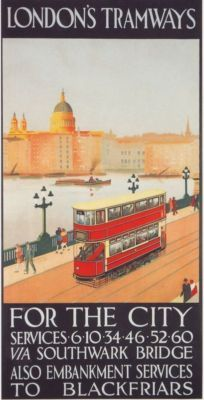1928 London Trams Advert Poster