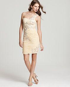 Sue Wong Dress - Appliqué One Shoulder | Bloomingdale's