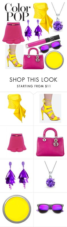 """Color Pop!"" by capricandycorn ❤ liked on Polyvore featuring Rubin Singer, Delicious, WithChic, Christian Dior, Oscar de la Renta, Bling Jewelry, Suva Beauty, ZeroUV, NARS Cosmetics and contest"
