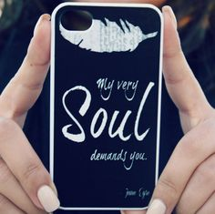 Jane Eyre iPhone Case Black  Quote iPhone Case by NeverMorePrints, $35.00