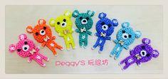 Rainbow Loom--彩虹熊 http://blog.xuite.net/peggyknitting/0511/306498529