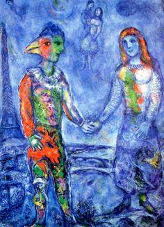 COUPLE IN BLUE, Marc Chagall (Liozna, Belarus 1887~1985 Saint Paul de Vence, France)