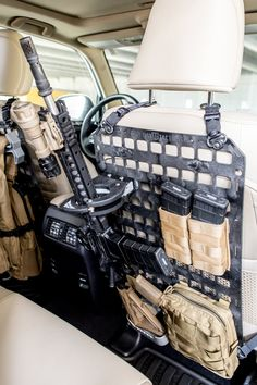 Leo Locking Rifle Rack - Tactical Rifle Mounts for any vehicles - Real Time - Diet, Exercise, Fitness, Finance You for Healthy articles ideas Tactical Truck, Tactical Rifles, Tactical Equipment, Weapon Storage, Gun Storage, Airsoft, Grey Man, Rifle Rack, Molle Gear