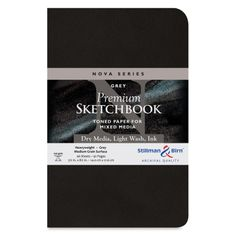 Shop Stillman & Birn Nova Mixed Media Sketchbook - Grey, x Softcover at Blick. Find everything you need for your next creative project online. Toned Paper, Nova, Mixed Media, Ink, Drawing, Sketches, India Ink, Drawings, Draw