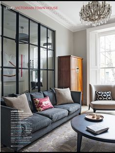 Modern living room pictures and photos for your next decorating project. Find inspiration from of beautiful living room images Living Room Modern, Home And Living, Living Spaces, Living Area, Modern Wall, Living Rooms, Living Room Grey, Living Room Decor, Glass Panel Wall