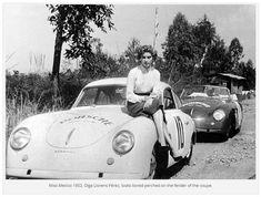 Porsche 356 Super – 1952 La Carrera Panamericana – The Official Model Car Racing Group Site by DArts Porsche 356a, Porsche 911 Turbo, Porsche Models, Porsche Cars, Volkswagen, Cowgirl Photo, Vintage Porsche, Classic Cars, Porsche Classic