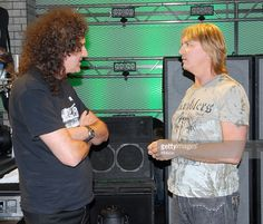 Brian May of Queen and Joe Elliot of Def Leppard during 2006 VH1 Rock Honors - Rehearsals - Day One at Mandalay Bay Hotel and Casino in Las Vegas, Nevada, United States.