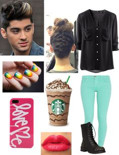 """Starbucks with Zayn"" by jessie-horan ❤ liked on Polyvore"