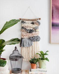 Weaving Wall Hanging, Plant Hanger, Dream Catcher, Mustard, Pink, Handmade, Home Decor, Mustard Plant, Homemade Home Decor