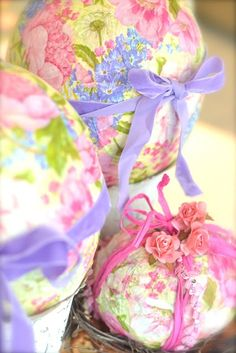 Paper Mache Easter Eggs by Shirley Kemp