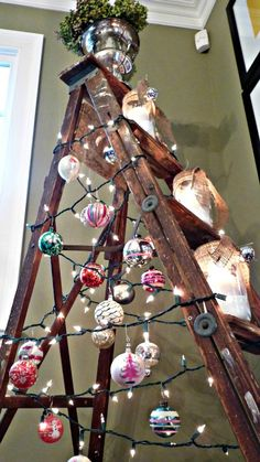 Do this when you don't have a Christmas Tree.  Not many of those in the Caribbean.  But I do have a ladder!