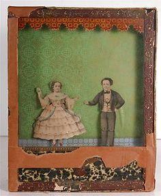 CA1863 Barnum Circus Sideshow Midget Tom Thumb Wife Automaton Sand Toy Dancers | eBay