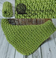 Newborn Photo Prop Mini Blanket by knitinthewomb