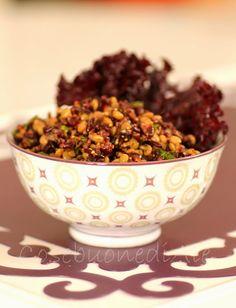 CosebuonediAle: Insalata di riso venere e lenticchie