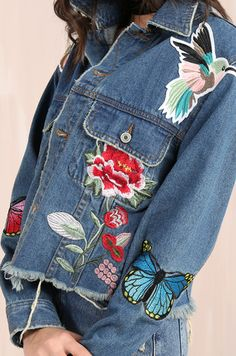 Shoptagr   In The Air Jacket Denim by Lola Shoetique #style #fashion #trend #onlineshop #product #shoptagr