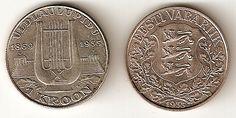 Eesti ühekroonine münt (1933) ◆Eesti - Vikipeedia http://et.wikipedia.org/wiki/Eesti #Estonia