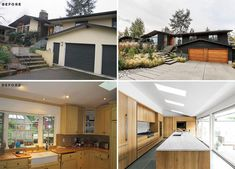 SHED Architecture & Design have transformed a 1959 ranch house in Seattle, Washington, and turned it into a bright and welcoming Northwest contemporary home. Ranch Exterior, Exterior Remodel, Exterior Paint Colors, Exterior Design, Ranch House Remodel, Mcm House, Mid Century Ranch, Concrete Steps, Modern Windows