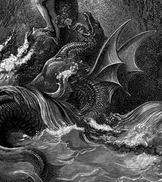 December 18 2018 at Gustave Dore, Satanic Art, Dark Drawings, Scratch Art, Arte Horror, Catholic Art, Black And White Illustration, Sea Monsters, Angels And Demons