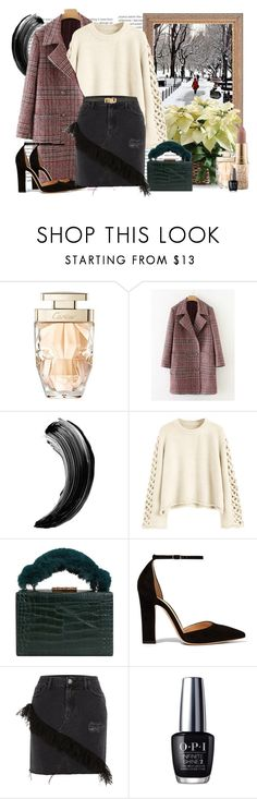"""""""Walking In The Winter Wonderland"""" by katartrina ❤ liked on Polyvore featuring Oris, Cartier, MANGO, Gianvito Rossi, River Island, OPI and Miu Miu"""