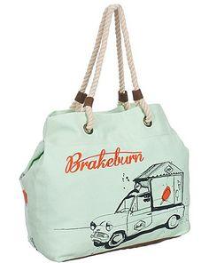 Brakeburn Ladies Vanette Beach Bag Lily Green. Cute.