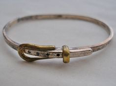 Fine MODERN Mid Century STERLING SILVER Buckle BRACELET Signed 925 IF-30 Mexico
