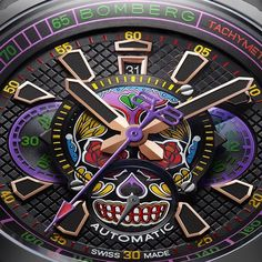 Where there is no imagination, there is no horror. May your Halloween be filled with scares and many, many SKULLS with this Bomberg Bolt68 Automatic watch.