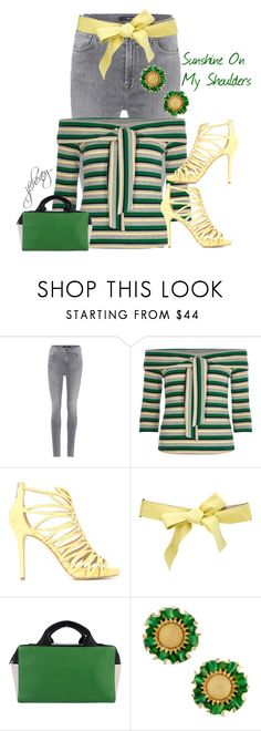 """""""Sunshine On My Shoulders"""" by jfcheney ❤ liked on Polyvore featuring J Brand, River Island, Jimmy Choo, Missoni and Reed Krakoff"""