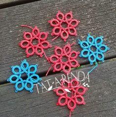 Tat-a-Renda: Small flowers chart.