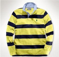 Ralph Lauren Herren Cotton Stripe Polo In Gelb