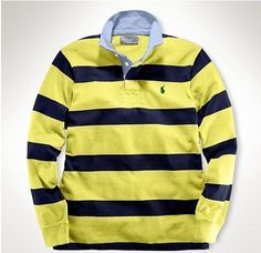 Ralph Lauren Herren Cotton Stripe Polo In Gelb