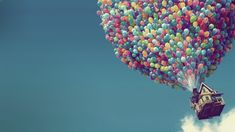 disney pixar up quotes | ... , house, sky, balloons, pixar, disney, cartoon, movie - 661299