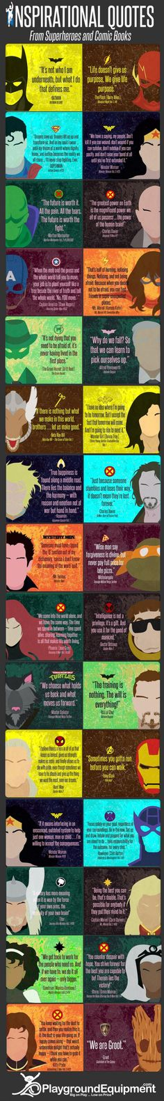 inspirational quotes from superheroes  | Inspirational Superhero Quotes | DailyFailCentral