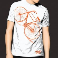 Michael Collins High Nelly Graphic Print Bicycle T-Shirt . Could this be the Most Important Bicycle in Irish History? Michael Collins, Shirt Shop, T Shirt, Large White, Graphic Prints, How To Draw Hands, Bicycle, Irish, Mens Tops