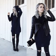 Modern Vice Boots, Madewell Jeans, Urban Outfitters Sweater