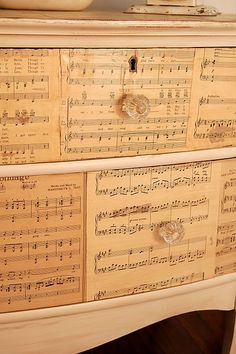 Sheet music dresser - now this is something I would consider on an older piece of furniture that doesn't look good naturally.  Sorry, I'm more interested in natural wood furniture.