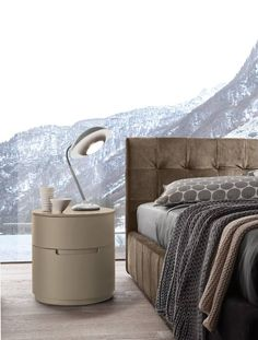 presotto italia design presents dado capiton upholstered bed upholstered and globo night stand in matt beige