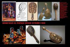 Idiofoni, Sonagli a scuotimento: Sonaglio sciamanico costruito con un carapace di tartaruga azzannatrice (Chelydra Serpentina) All'interno sono inserite pietruzze e semi duri. Erano utilizzati nei rituali sciamanici degl'Iroquoian. Nella tradizione orale Iroquoian, la tartaruga è un simbolo della creazione e della vita. Sonagli ricavati dal guscio di tartaruga erano usati nei riti di guarigione.