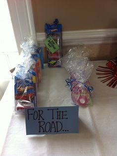 Hot Wheels Party - treats for the road
