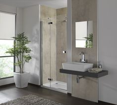 NEW for 2016 - Urban Concrete - Shower and basin