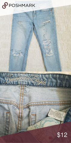 FINAL MARK DOWN 🌻American eagle distressed jeans American eagle distressed regulate style jeans American Eagle Outfitters Jeans Straight Leg
