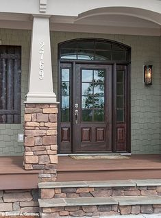 Gorgeous wooden and stone front porch ideas (32)