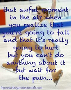 I'm not a figure skater, but I was in roller derby for a short while and this problem definitely applies!
